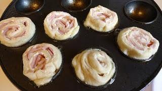 Babycakes Ham and Cheese Puffs