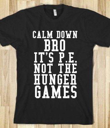 Haha love it! Although I love pretending my workouts are the Hunger Games XD