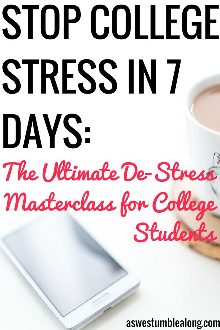 how to handle stress in college Students with demanding schedules often end up burning out after long periods of constant stress today, we'll figure out what causes student burnout, and ho.