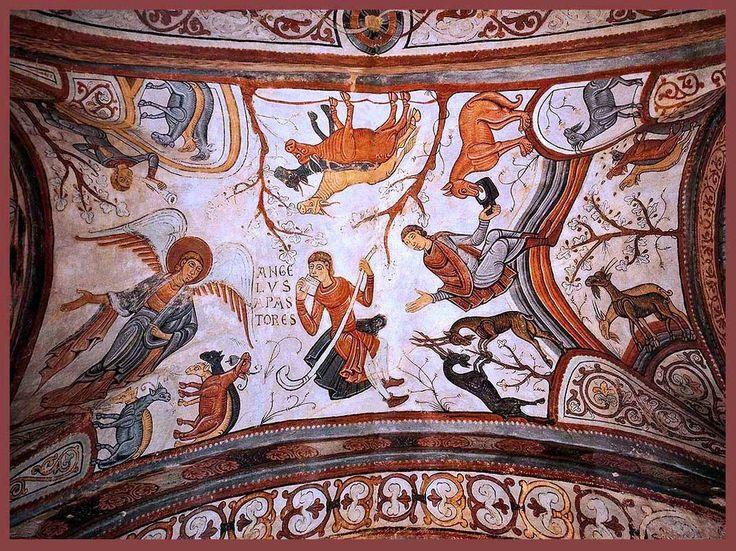Panteón San Isidro de León. Pintura estilo Románico. León (España) siglo XII. Autor desconocido. He escogido esta obra para el museo porque la pintura recoge una expresión estática, fuerte y penetrante característico del estilo Románico.