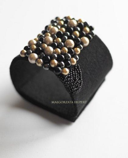 Filcowa, ręcznie wykonana bransoletka według autorskiego projektu / Felt, handmade bracelet