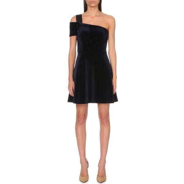 new product acb07 156e5 Sandro Ingalls velvet dress (€250) ❤ liked on Polyvore featuring dresses,  one sleeve dress, single shoulder dress, sandro dress, print…   Pret A  Porter
