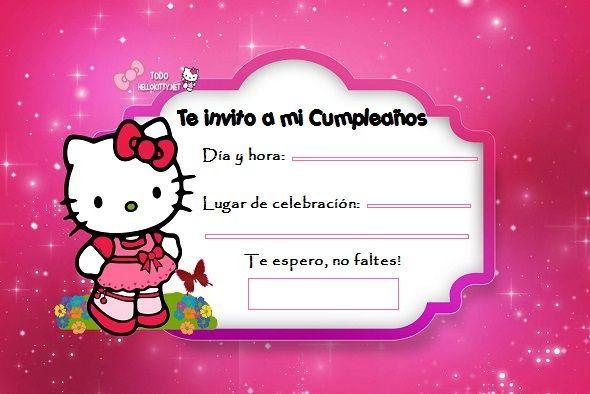 Invitaciones de cumplea os de hello kitty todo hello - Todo para fiestas de cumpleanos ...