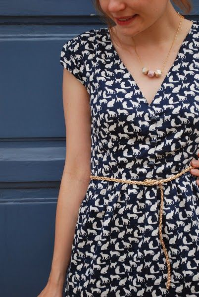 Robe Marie - un été couture - détail encolure