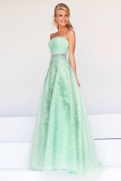 Cute mint green prom dress