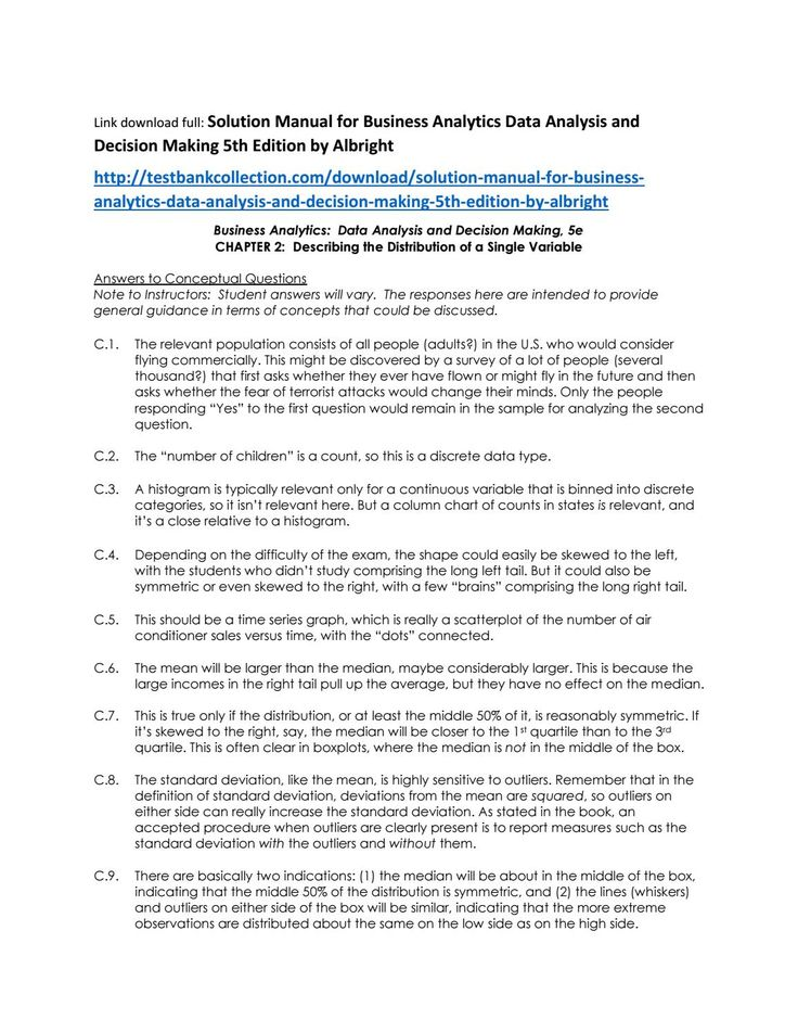 146 best solutions manual images on pinterest coding computer solution manual for business analytics data analysis and decision making 5th edition by albright fandeluxe Image collections