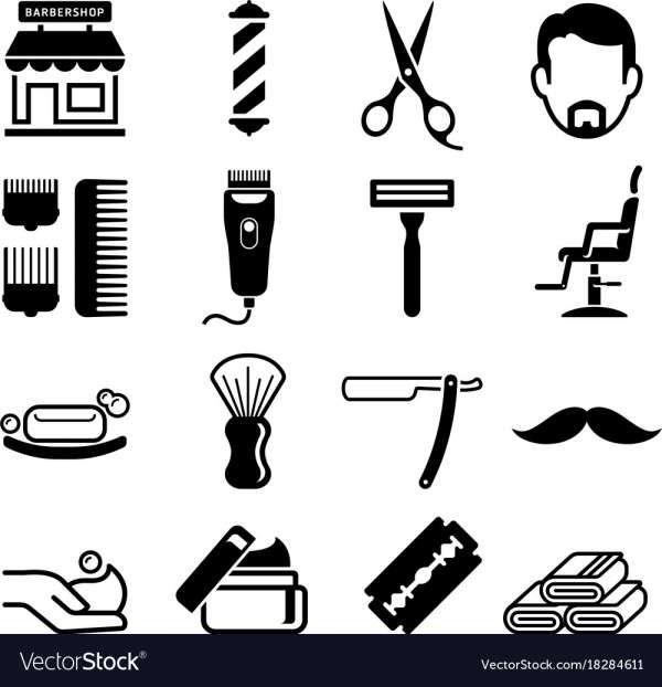 15 Barber Shop Icon Barber Shop Barber Shop Vintage Barbershop Design