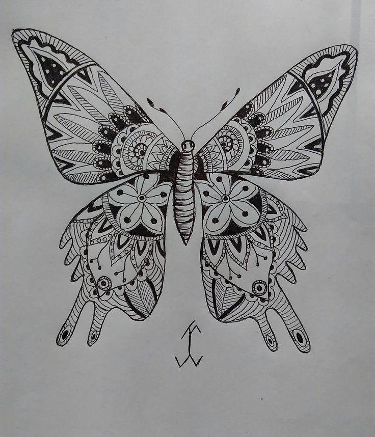 ShapeButterFly #followewrs #instagram  #zentangle #3d #drawing #draw #pen #art  #ink #inkwork #zentangles #zentangleart #shape #shapes #mandala #mandalas
