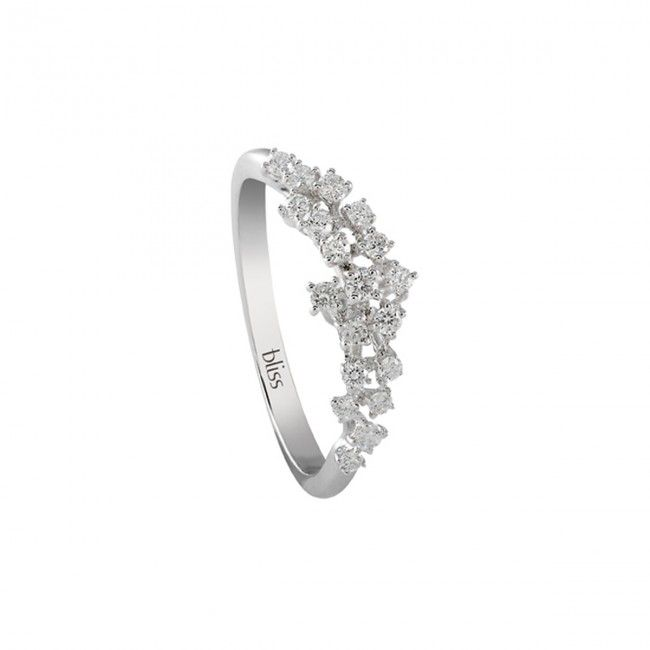 Bliss ring witgoud met diamanten