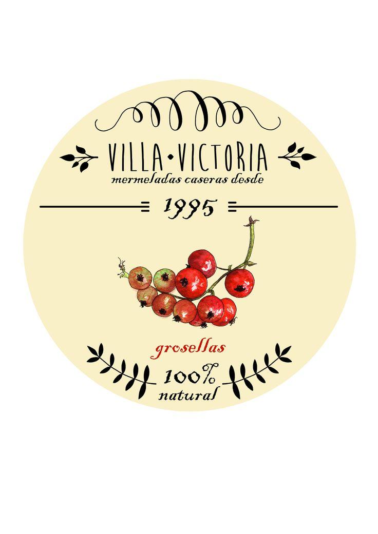 Red currant jam label