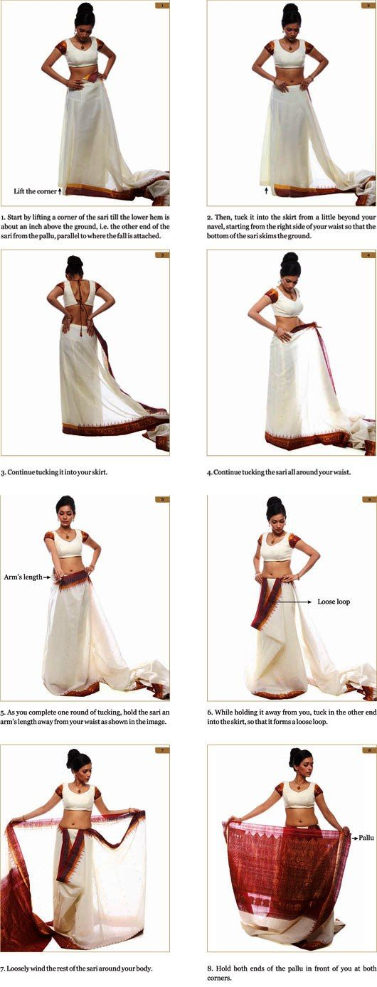 Learn the Art of Saree Draping with Mruga.com #PictureTutorial #HowToPost #DIY