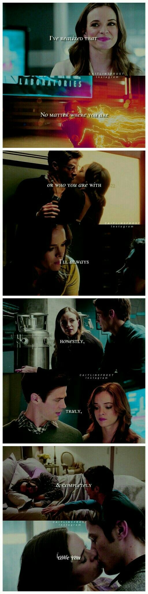 """Caitlin Snow and Barry Allen """"I will always love you no matter what..."""" #Snowbarry #FlashFrost #TheFlash"""