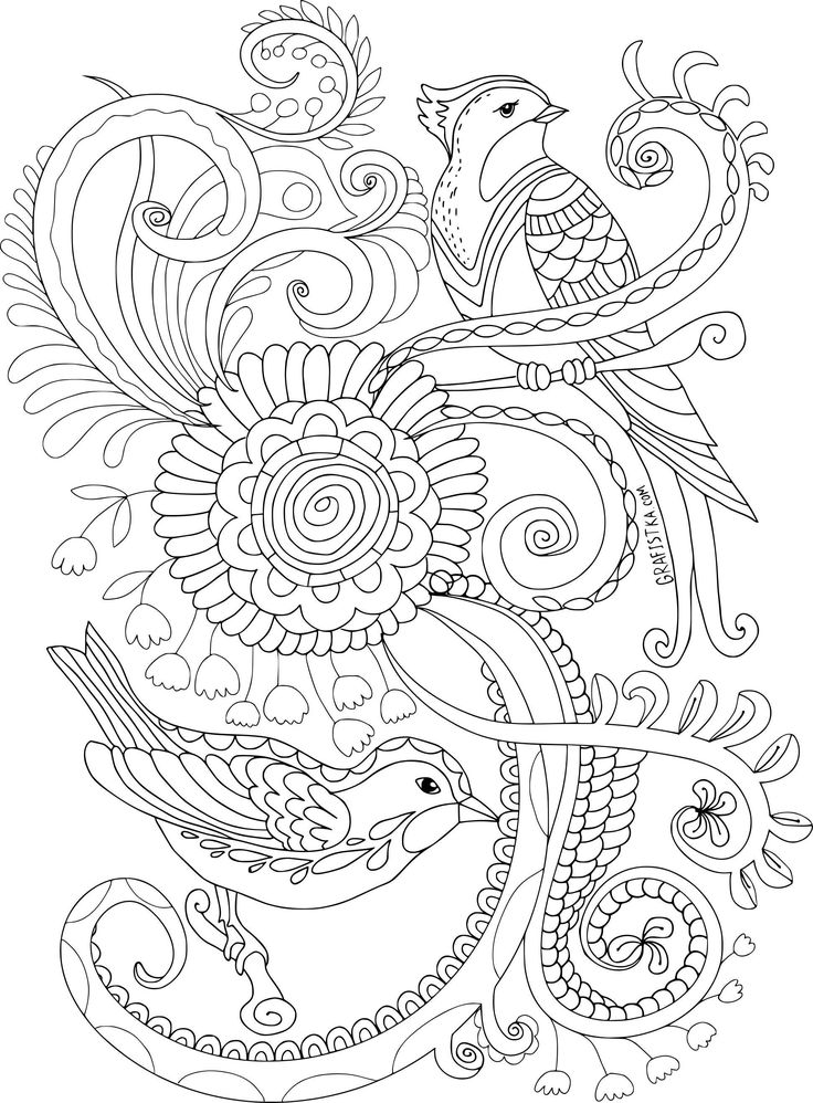 10 Coloriage Anti Stress à Imprimer Disney in 2020   Bird coloring pages, Mandala coloring pages ...