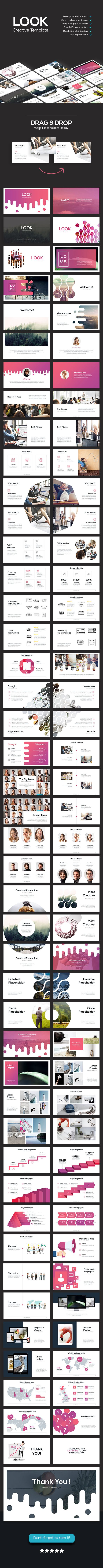 Look - Creative Theme - PowerPoint Templates Presentation Templates