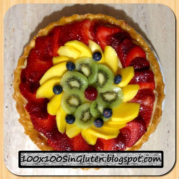 Tartaleta de hojaldre, crema y fruta fresca sin gluten paso a paso