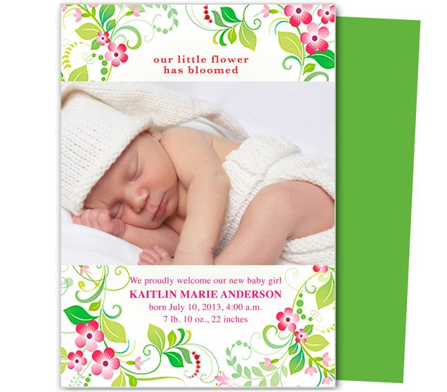 12 Best Baby Birth Announcement Templates Images On Pinterest