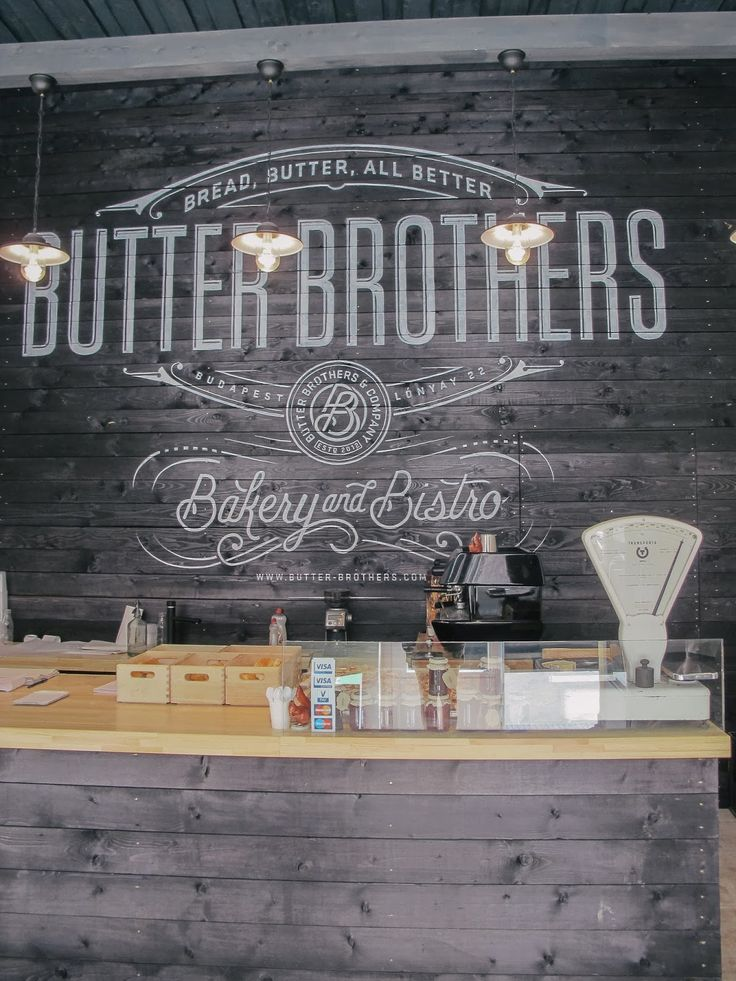 Butter brothers shows us how chalkboard-esque art creates individuality and charm for their brand!