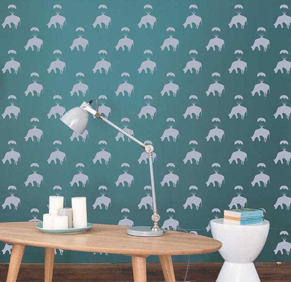 Banksy Golden Parachute Cow reusable STENCIL for room interior decor / Not a decal