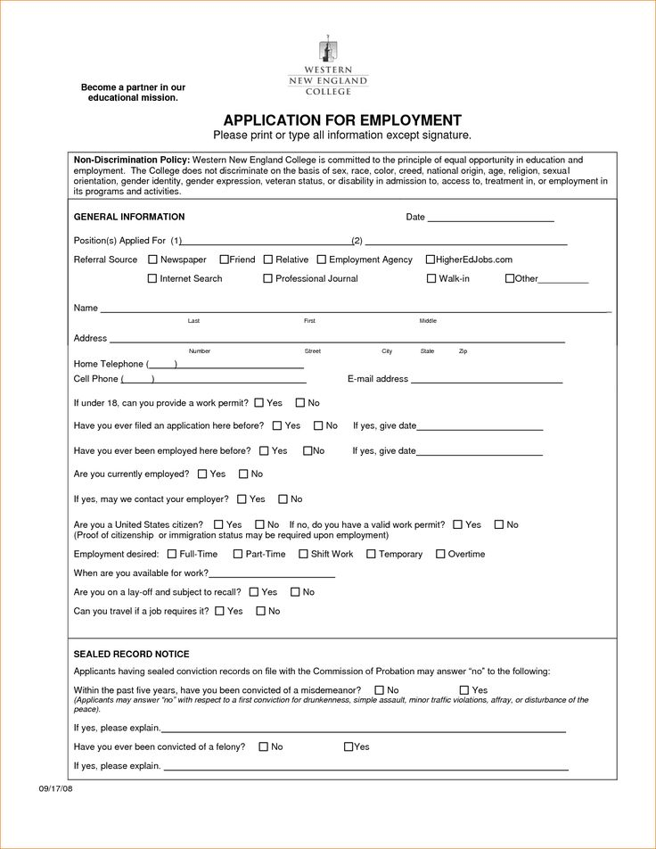 Best 25+ Application for employment ideas on Pinterest - family medical leave act form