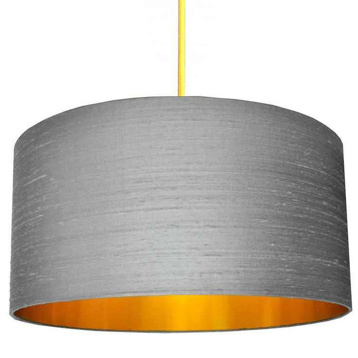 Ash Grey Indian Silk Dupion Lampshade With Gold Lining by lovefrankiedotcom on Etsy https://www.etsy.com/uk/listing/464317471/ash-grey-indian-silk-dupion-lampshade