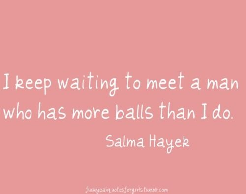 Salma... You took the words right out of my mouth. Amen sista