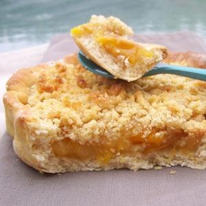 Tartelettes crumble creme a la mirabelle (5 PP)