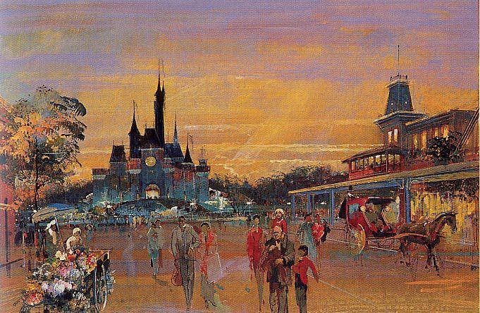 Euro Disney concept, Disneyland Paris (never built as such) - Herb Ryman