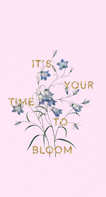 It's Your Time To Bloom: Free Wallpaper