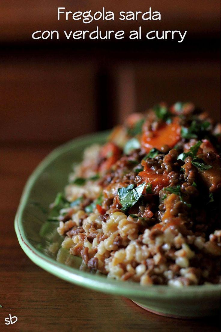 Fregola sarda con verdure al curry