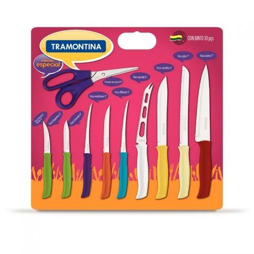 Facas Tramontina - Conjunto de Facas 10 peças ATHUS Tramontina - Via Inox Tramontina