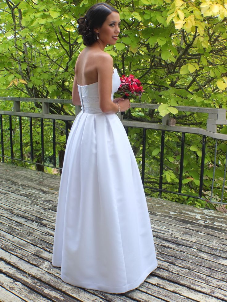 50's style De-lustred satin and corded lace gown by Jennie Field Dressmaker