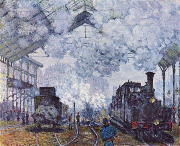 Claude Monet | Monet, Claude - 739px-Claude_Monet_004.jpg - Gare Saint-Lazare, the ...
