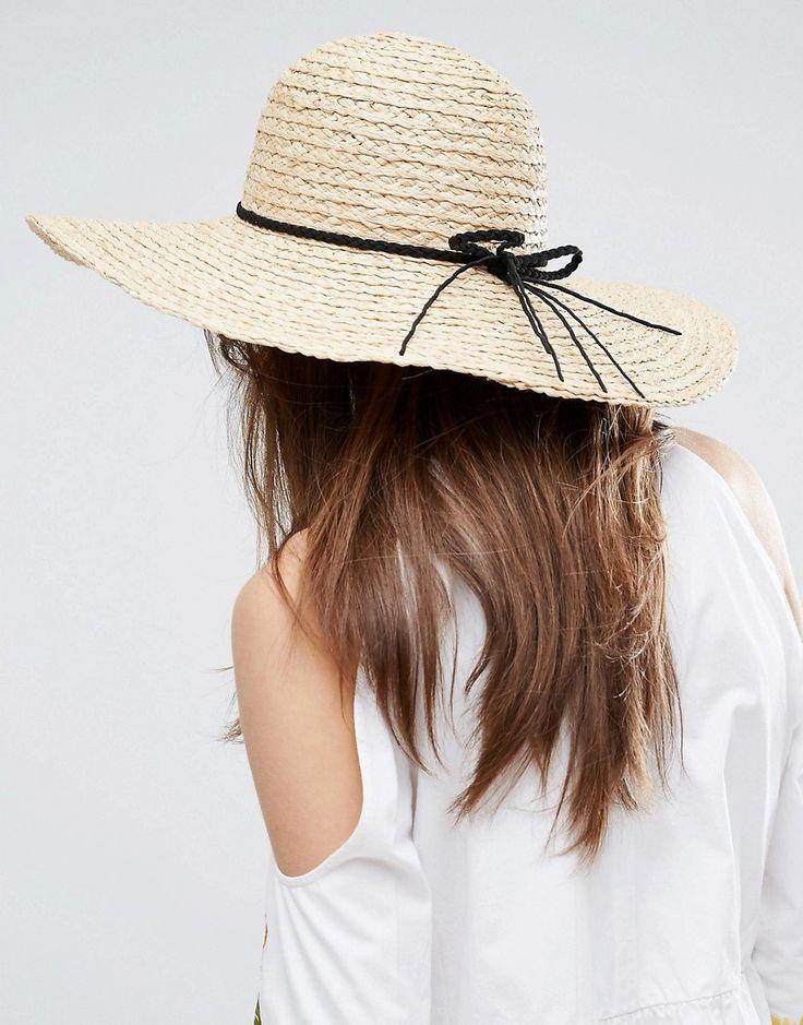 ASOS Natural Floppy Hat Braid Band - Brown