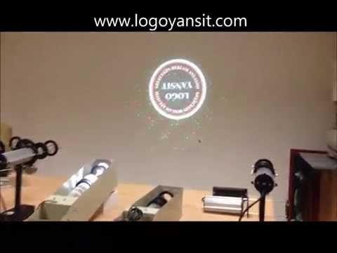 Logo Yansıt Dış Ortam Dönen Logo ve Lazer Uygulama Vidosu - YouTube