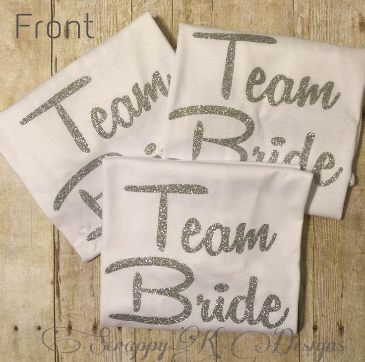Team Bride Tshirts, Bachelorette Party t-shirt, Bridal Tshirt, Fun Wedding Tshirts, Bridal Party T-shirts, Custom Tees, Personalized Shirts - pinned by pin4etsy.com