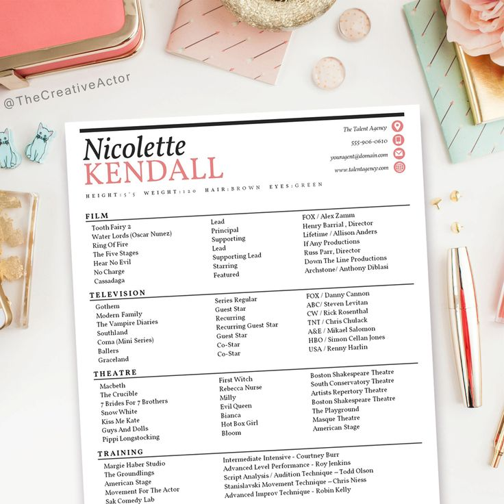 The 25+ best Acting resume template ideas on Pinterest Free - artist resume template
