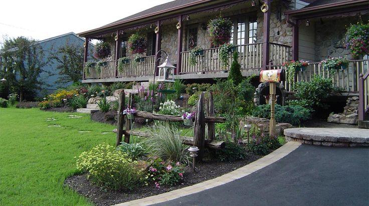 R Alisation C T Jardin En Fa Ade Plani Paysage Pierres Et Rocaille Au Jardin Pinterest