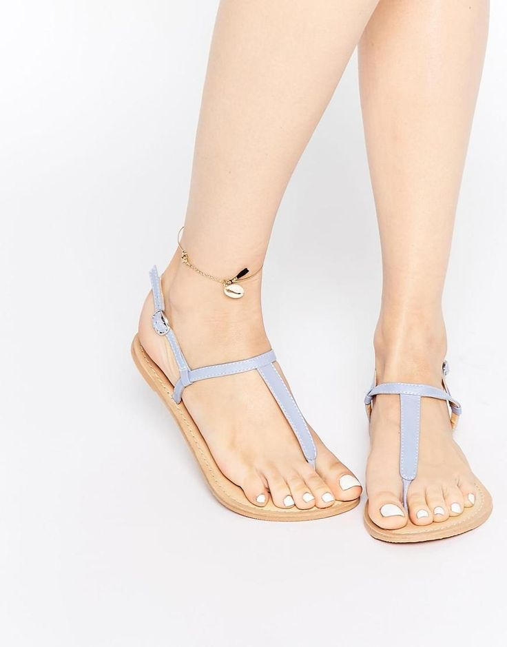 ASOS | ASOS FLAVOUR Wide Fit Leather Flat Sandals at ASOS