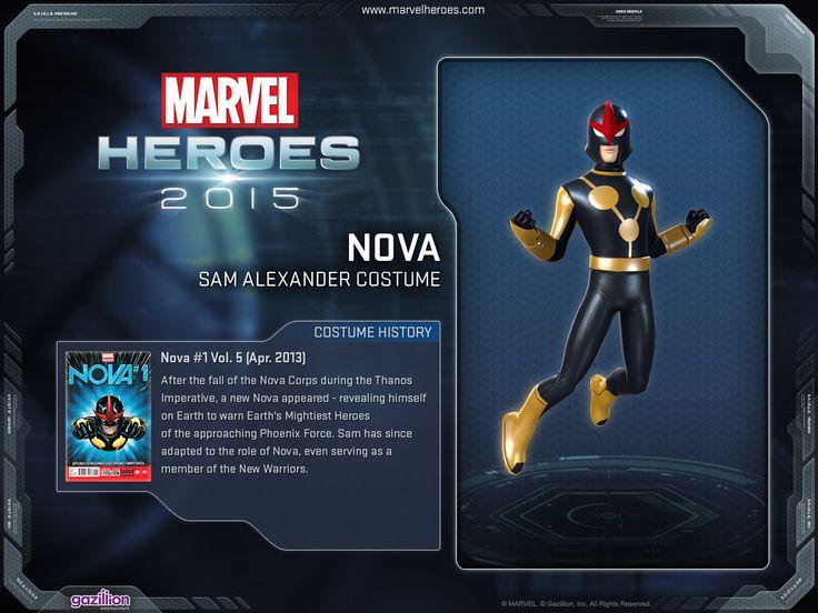The history about his costume... Nova                                                        Sam Alexander