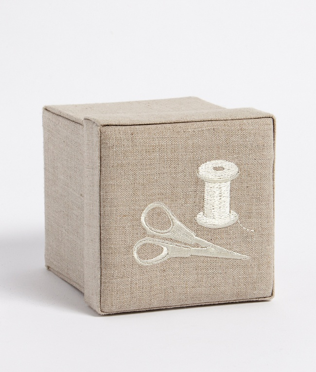 """This classic sewing kit is a reminder of precious moments from times gone by, plus deceptively innovative- perfect for storing all those """"bits and pieces"""". Perfect for the """"non sewer""""! All """"bits and pieces"""" seen here are included in the kit."""