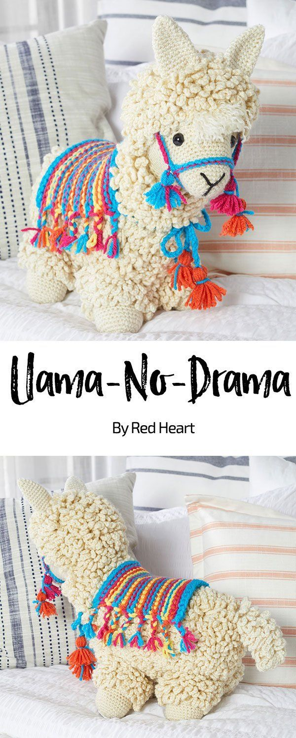 Llama-No-Drama free crochet pattern in With Love yarn. Let's face it, this lla…
