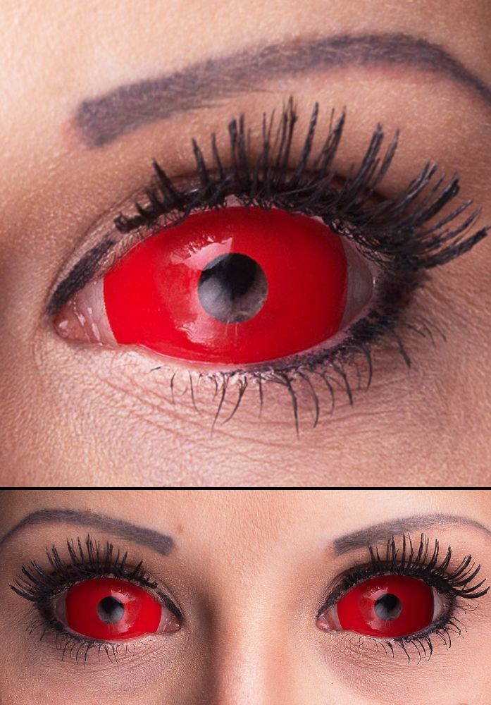 sclera kontaktlinsen full red eye red contacts for halloween