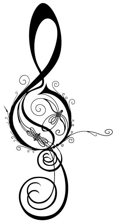Treble Clef... Mayor tris William be my sort of tattoo