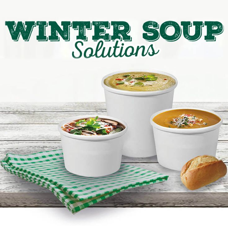 There's no better time for a bowl of hot soup than when the weather is cold. Does your menu offer any comfort food that can warm up your customers? 🍲🍜🥘 Here's an excellent solution for hot takeaway soups. #winter #soup #takeawaysoup #papersoupcontainer
