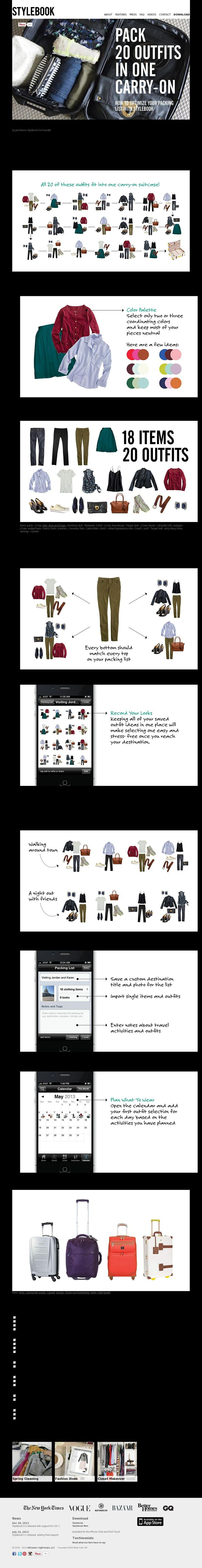http://www.stylebookapp.com. I am not that organized but this has good info