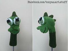 Golf Headcover - Dragon, Crochet, amigurumi