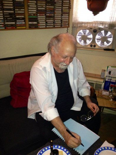 "Bob Crawford signing ""Symmetric Cycles""...music theory book inspired by the work of John Coltrane, Pat Martino, and Nicholas Slonimsky"