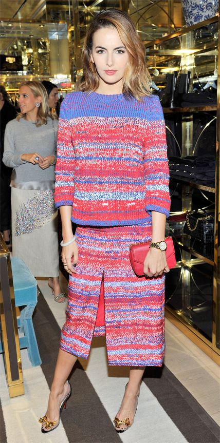 Look of the Day - November 12, 2014 - Camilla Belle in Tory Burch from #InStyle