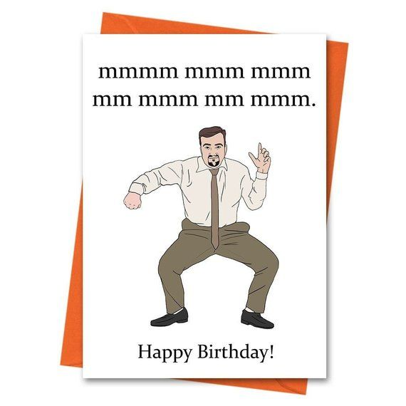 Funny Birthday Card The Office Uk David Brent Dance Card Etsy Funny Birthday Cards Birthday Humor Naughty Birthday Cards