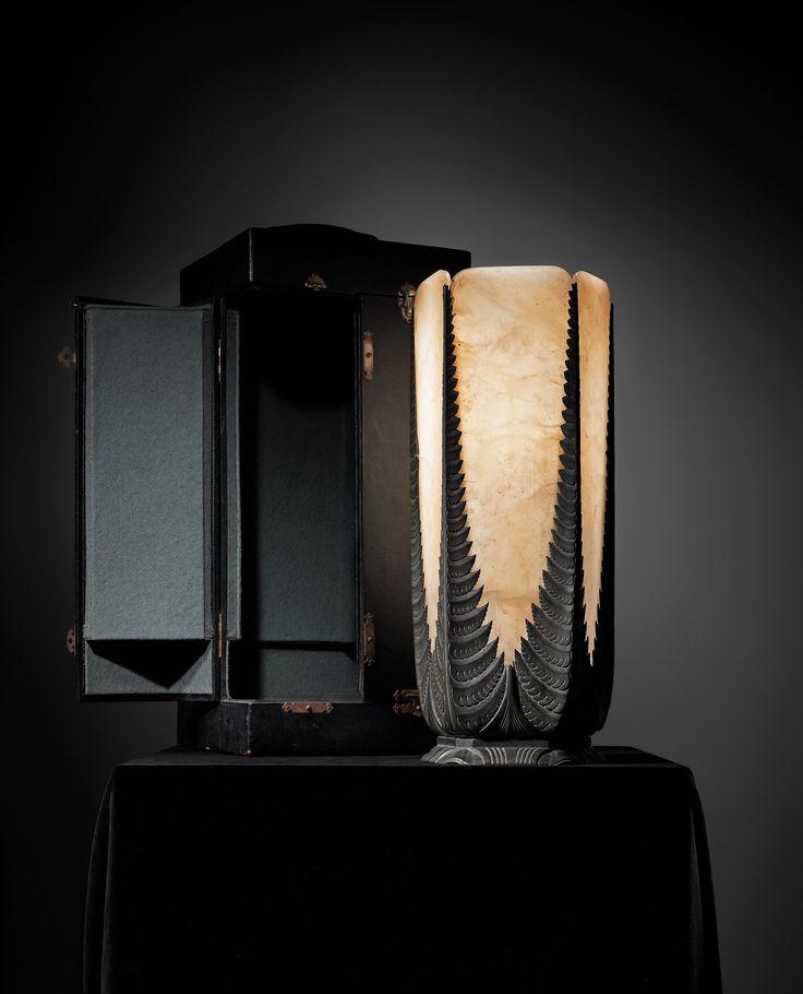 A nice item at #Bukowskis lampa i alabaster, ormbunke